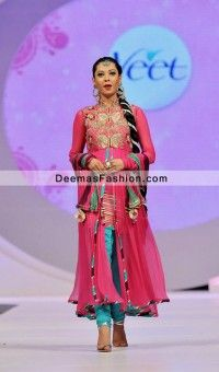 318cedba5b Pakistani Designer Dress Shocking Pink Ferozi Churidar Party Wear ...