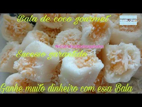Balas De Coco Gourmet Abacaxi Com Coco Balinha De Coco Bala De