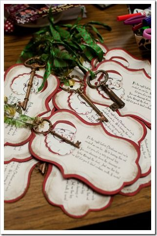 """Santa's magic key :)  I've done Reindeer food for """"forever""""..this will be a cool new thing to do!"""