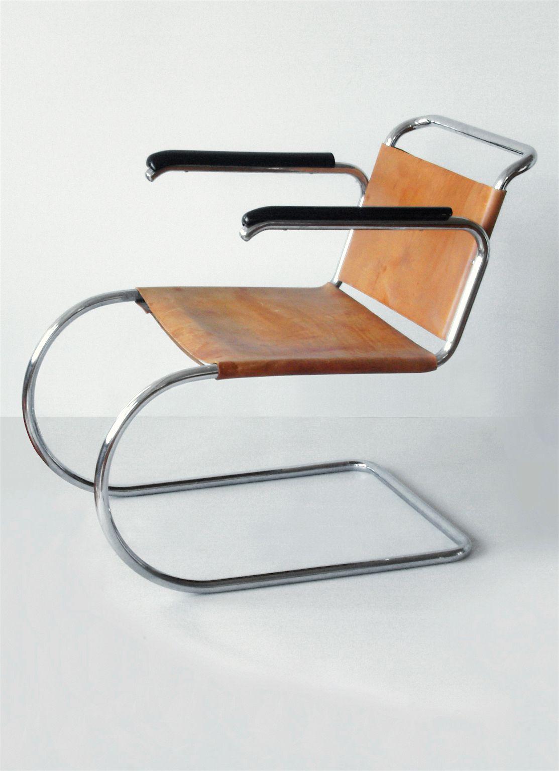 Mies Van Der Rohe Cantilever Mr Armchair Prototype Berlin Circa