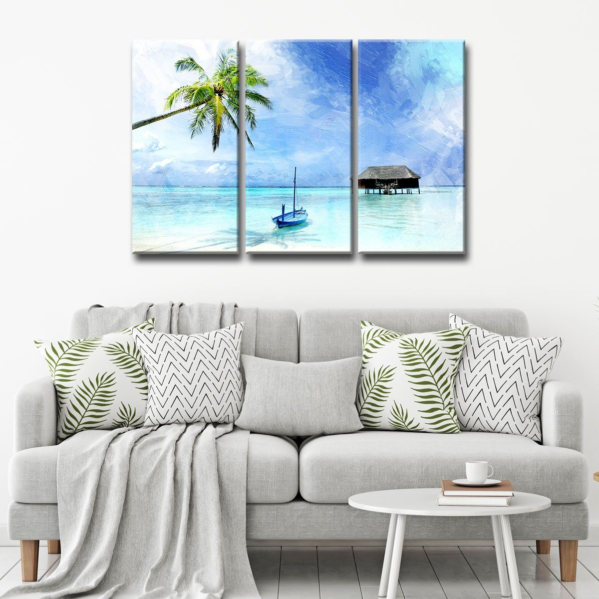 Tropicalu canvas wall art piece set canvases and art pieces