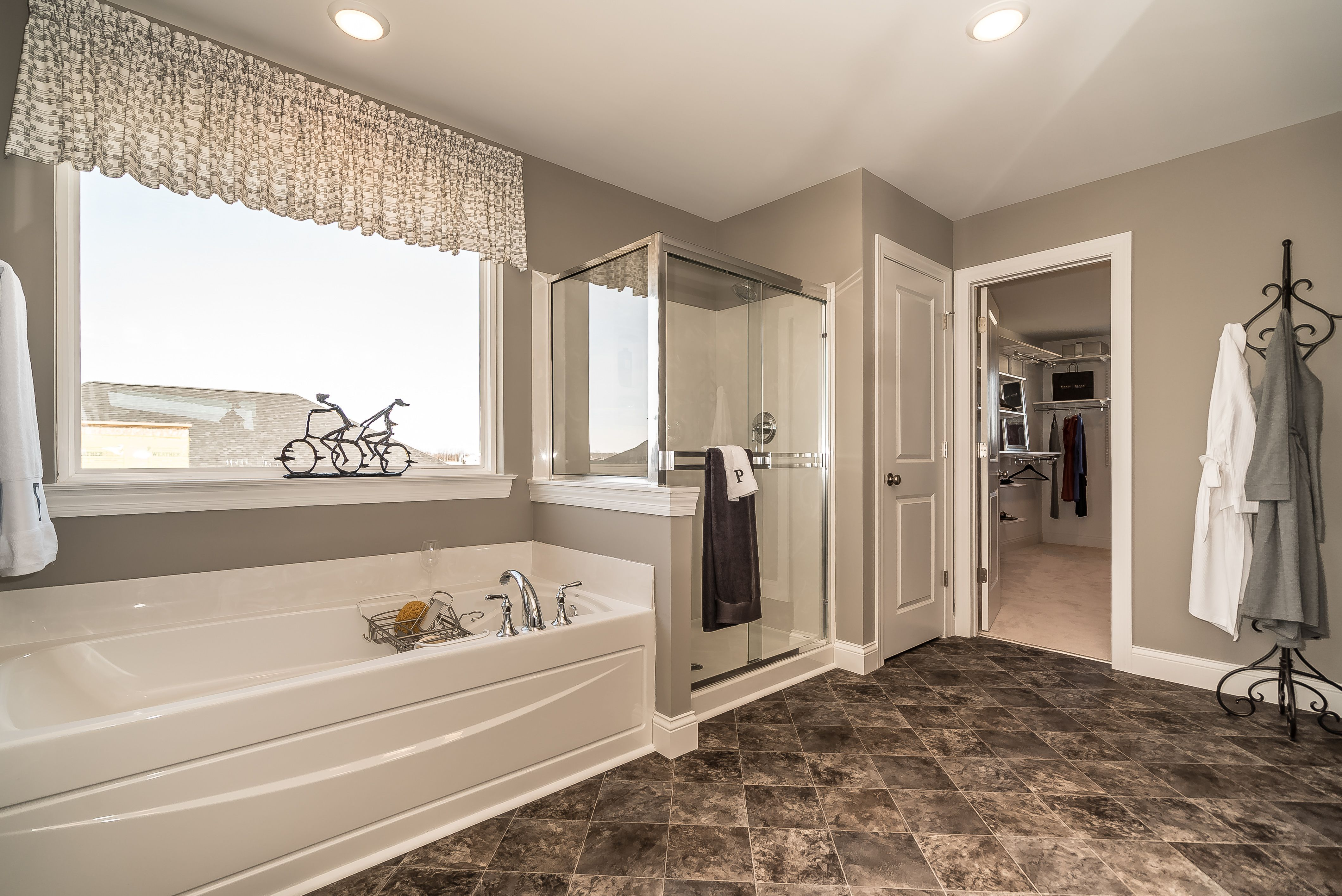 Master bath shower and tub | Home builders, Home and ...