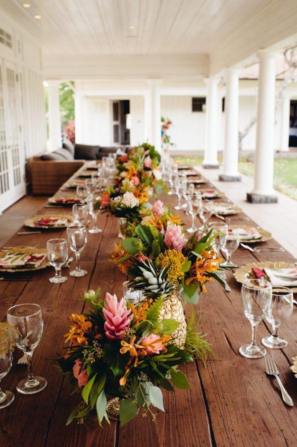 Rustic Island Wedding at Dillingham Ranch | Tropical home ... |Tropical Rustic Decor