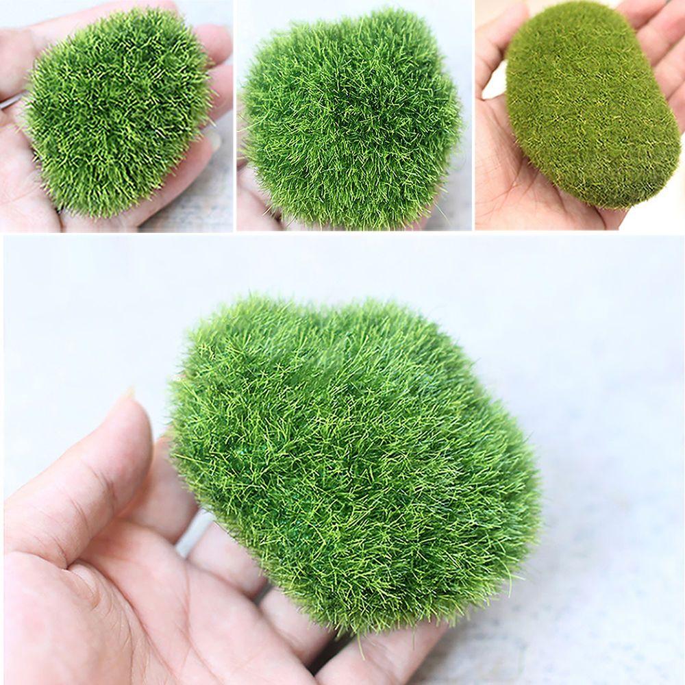 Great Moss Balls Artificial Grass Turf Stones Mini Fairy Garden ...