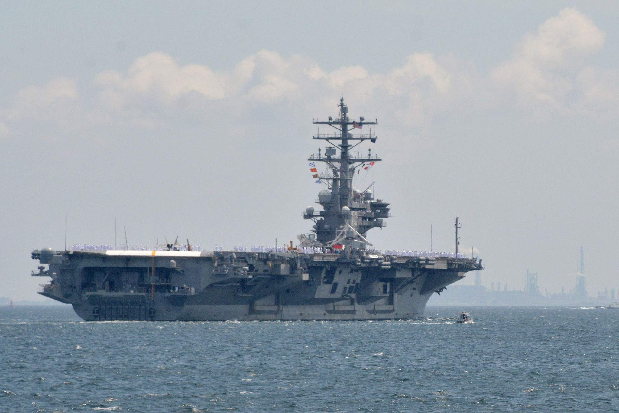 https://flic.kr/p/HN81kn | 160604-N-XN177-283 | YOKOSUKA, Japan (June 4, 2016) The U.S. Navy's only forward-deployed aircraft carrier USS Ronald Reagan (CVN 76) departs Fleet Activities (FLEACT) Yokosuka for its 2016 patrol. Ronald Reagan and its embarked air wing Carrier Air Wing (CVW) 5 provide a combat-ready force that protects and defends the collective maritime interests of the U.S. and its allies and partners in the Indo-Asia-Pacific region. (U.S. Navy photo by Mass Communication…