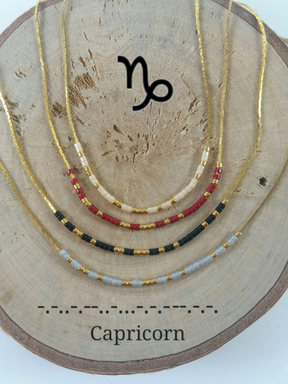 c95d8d8fb057a CAPRICORN Morse Code necklace, CUSTOM morse code, Secret Message ...