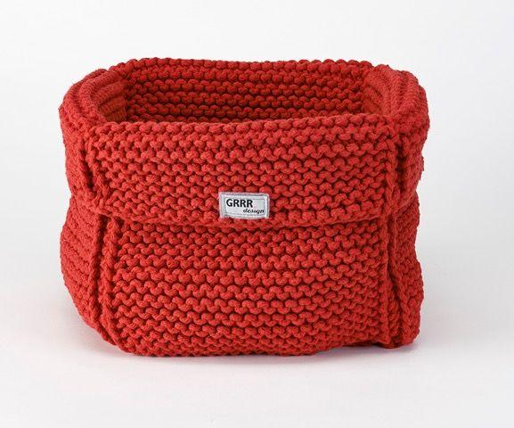 Kosz na zabawki Twojego pupila <3 100% handmade, kolor czerwony.