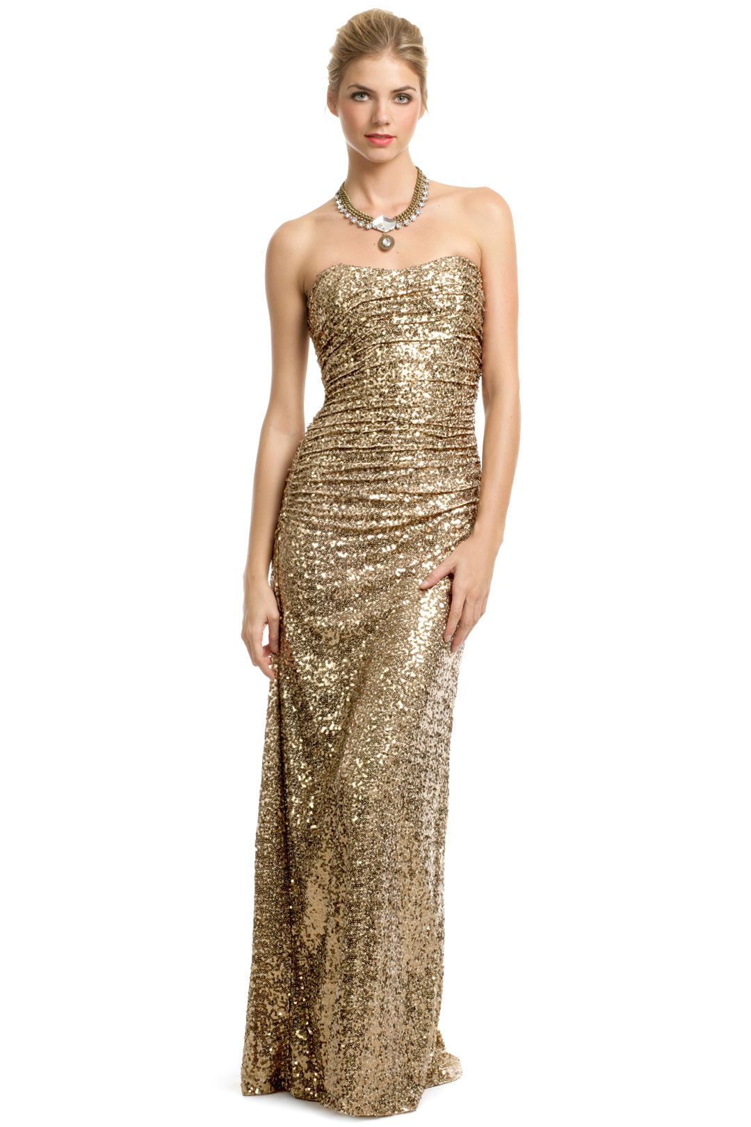 e60dd83a45f0 Rent Gold Glitterati Gown by Badgley Mischka for $80 - Page 3 only at Rent  the Runway.