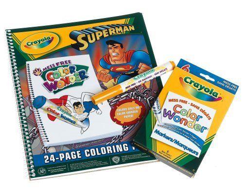 Crayola Color Wonder Assortment Superman Select 851131 Superman Pad 1 Toy By Crayola 12 99 Color Wonder Painting Supplies Toys Games