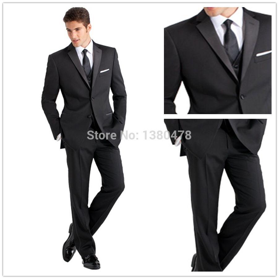 New Design custom Black Groom Tuxedos Best man Suit wedding/Party ...