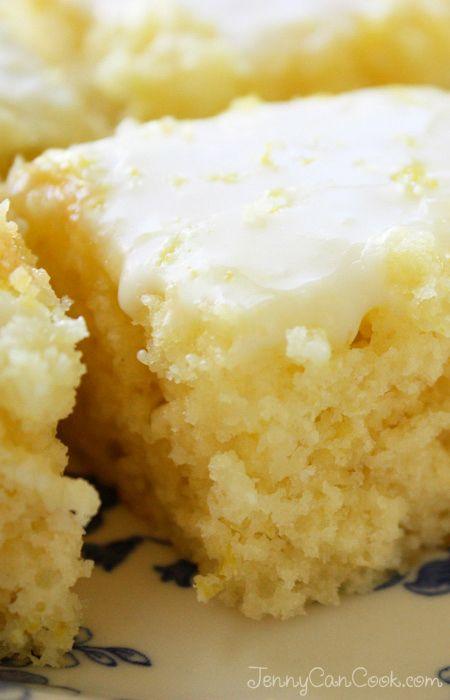 Easy Lemon Brownies - Maailman helpoimmat sitruuna browniet, täysjyväkin toimii