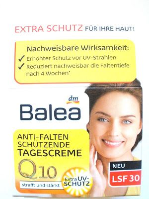 balea anti falten sch tzende tagescreme q10 lsf 30 balea. Black Bedroom Furniture Sets. Home Design Ideas