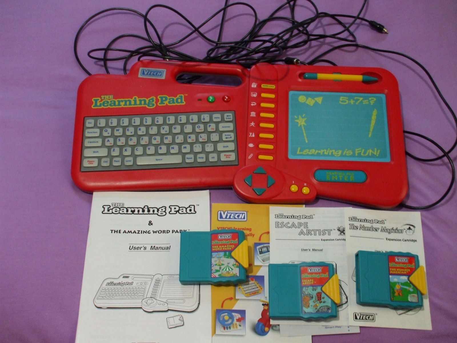 Vintage Vtech Smart Play Learning Pad Educational Toy Age 5 8 with