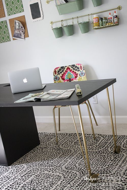 Super easy ikea desk hack amazing look for cheap desk for Tutorial ikea home planner