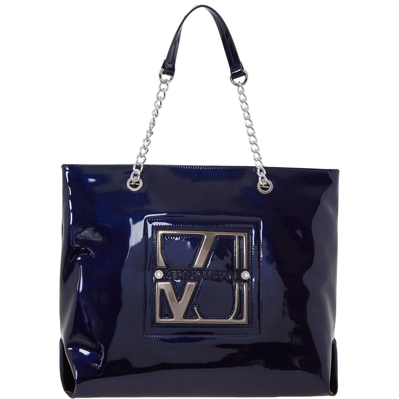 Livraison Gratuite Pré Commande Livraison Rapide En Ligne Pas Cher Jean Versace Couture Besace De Vinyle - Bleu iUK1y