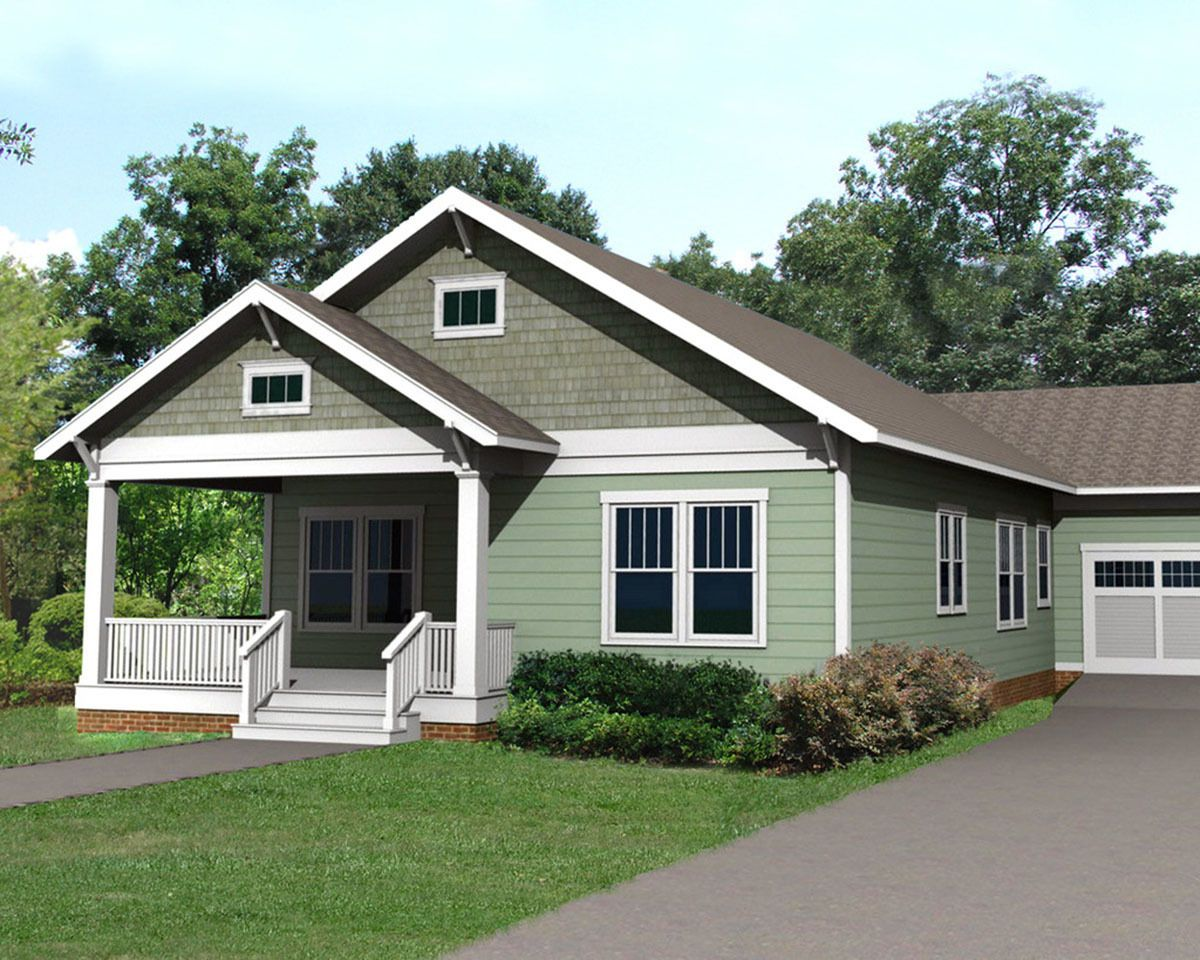 Plan 50132ph Cozy Bungalow With Attached Garage Garage House