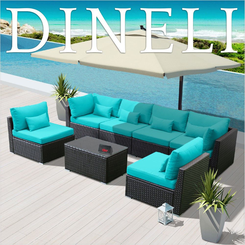 Details About 7g Outdoor Wicker Rattan Sectional Patio Furniture