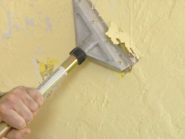 How To Remove Texture From A Wall And Get A Smooth Look Cleaning