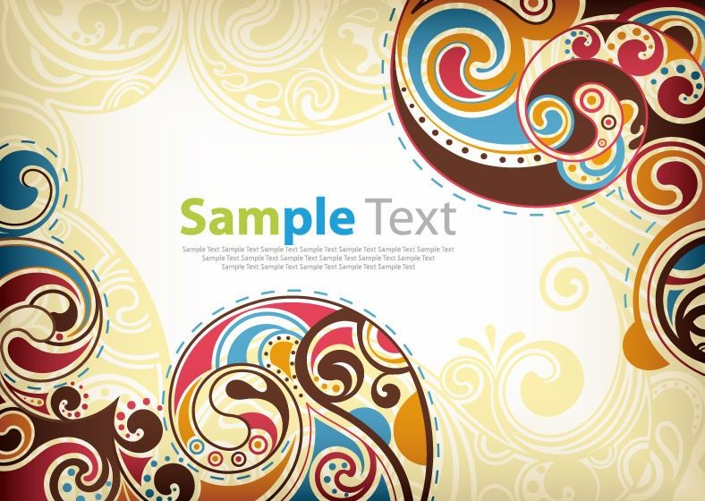 square pattern Graphic Design Backgrounds   Retro Floral ...