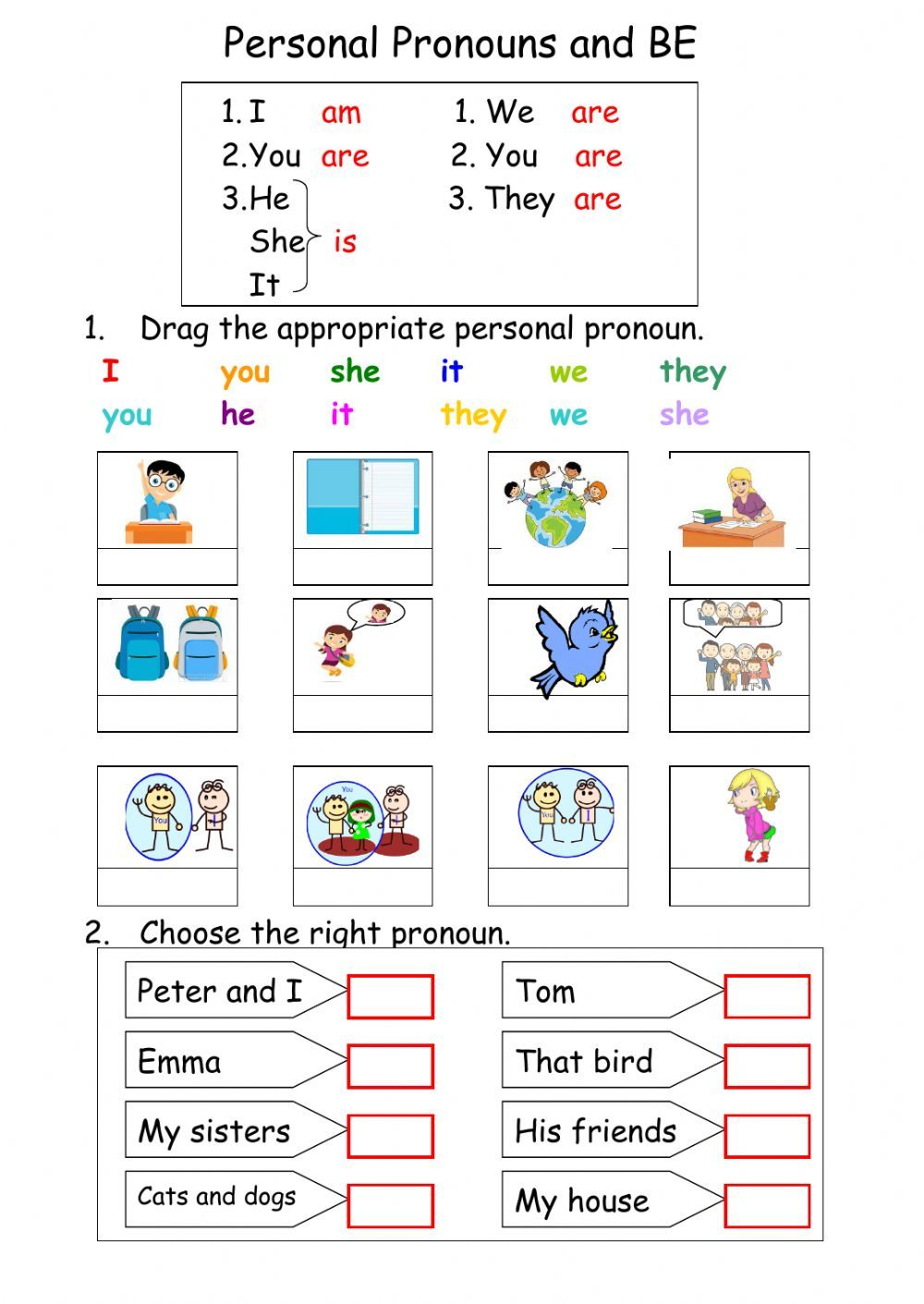 Verb to be interactive and downloadable worksheet. You can ...