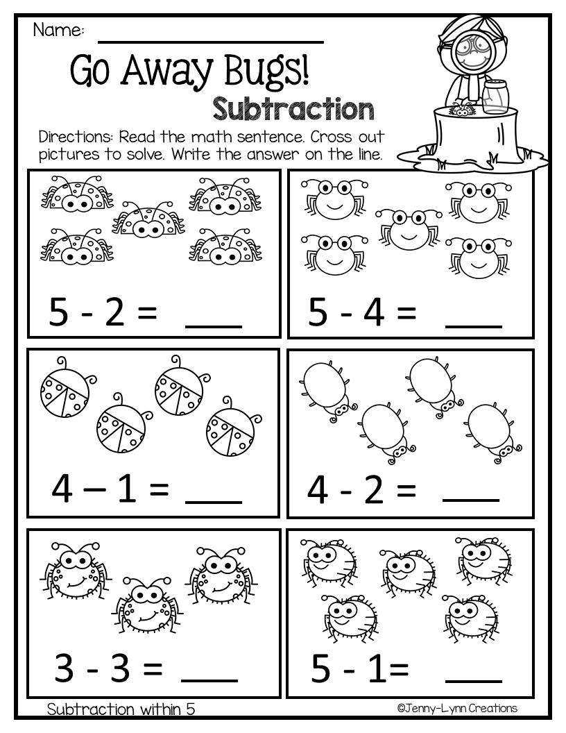 March Math Literacy No Prep Kindergarten Math Worksheets Addition Math Literacy Math Centers Kindergarten [ 1056 x 816 Pixel ]