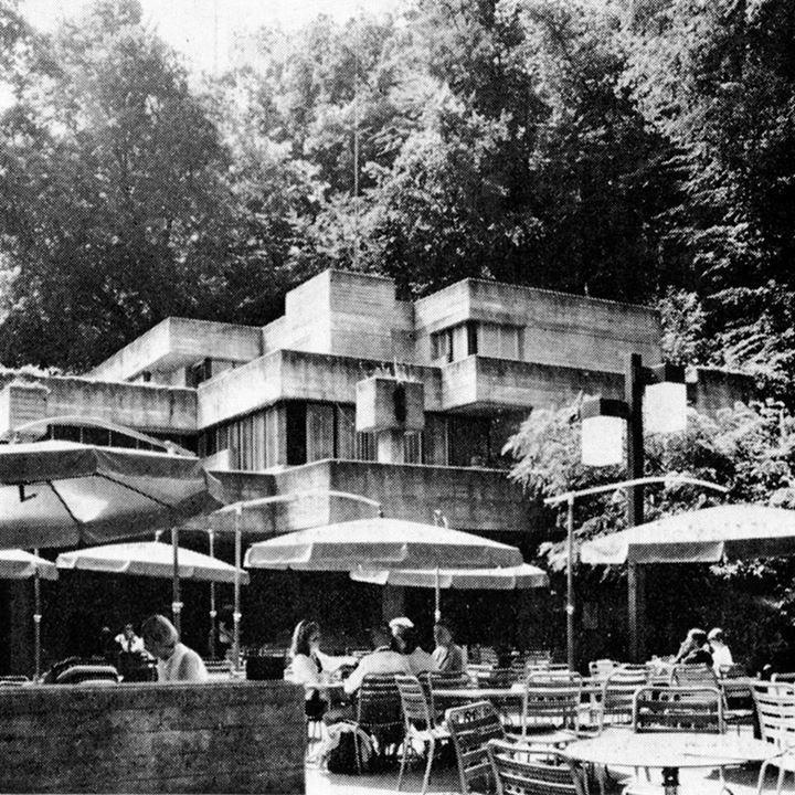 Restaurant, Neuhausen/Rheinfall, Switzerland, 1961-63 by Walter M. Förderer, Hans Zwimpfer