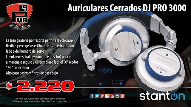 La Púa San Miguel: Auriculares Cerrados STANTON DJ PRO 3000