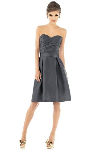 Shop Alfred Sung Bridesmaid Dress - D538 Quick Delivery in Peau De Soie at Weddington Way. Find the perfect made-to-order bridesmaid dresses for your bridal party in your favorite color, style and fabric at Weddington Way.