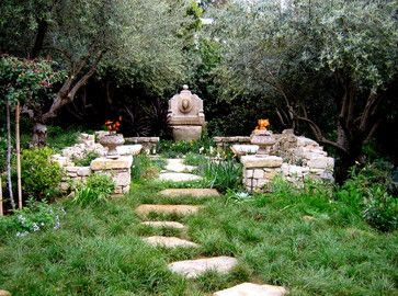 What A Fabulous Idea, Perfect For A LARP Town; A Garden Designed To Look  Like Ruins.   Ruins Garden :: A Garden Alcove With Low Stone Walls To Mimic  .