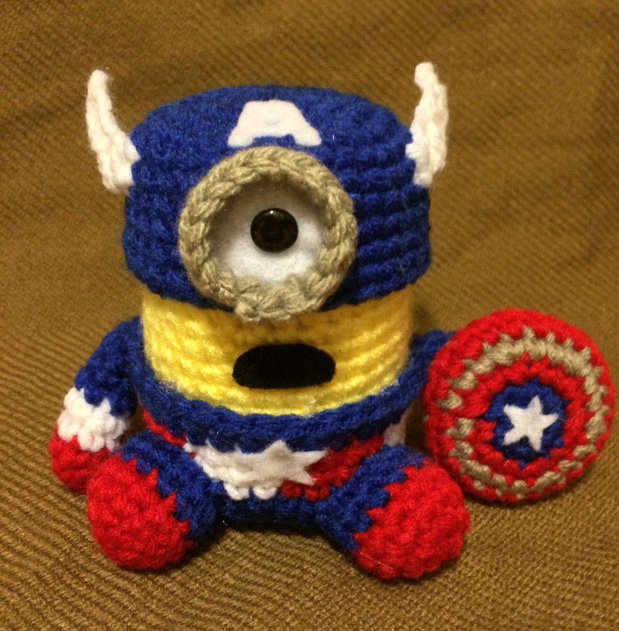Captain America Minion Pdf Pattern Crochet For By Jamigurumi