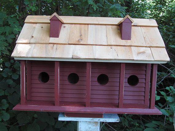 Large Purple Martin Birdhouse Plantation Style by birdhouseaccents on Etsy