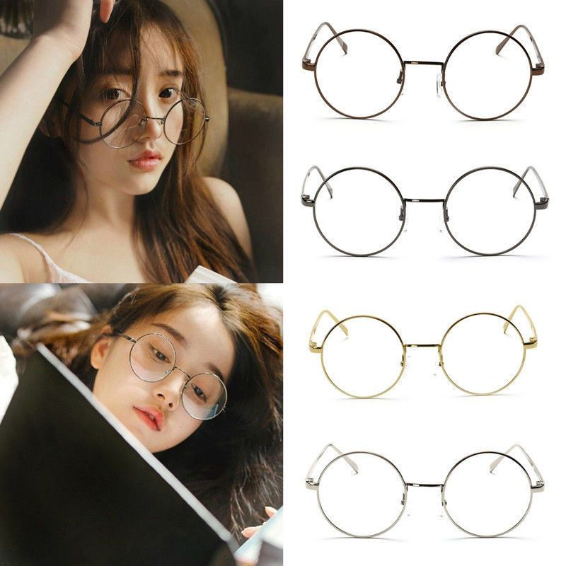 b02fccf5e Hot Women Men Large Oversized Metal Frame Clear Lens Round Circle Eye  Glasses #Unbranded #Round