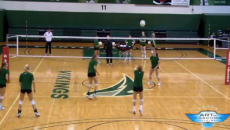 Serve Receive Drill - who blinks first- serve receive to earn points