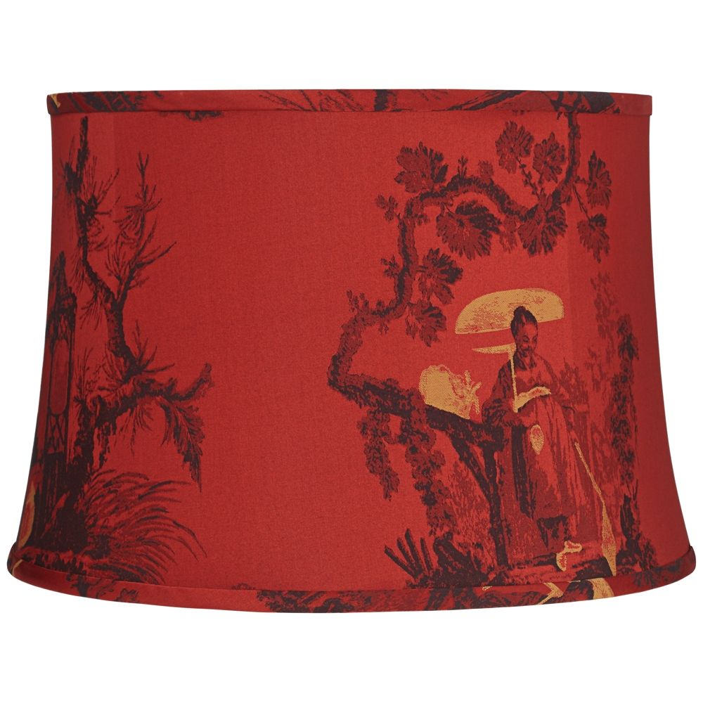Gold Toile Drum Lamp Shade 14x16x11