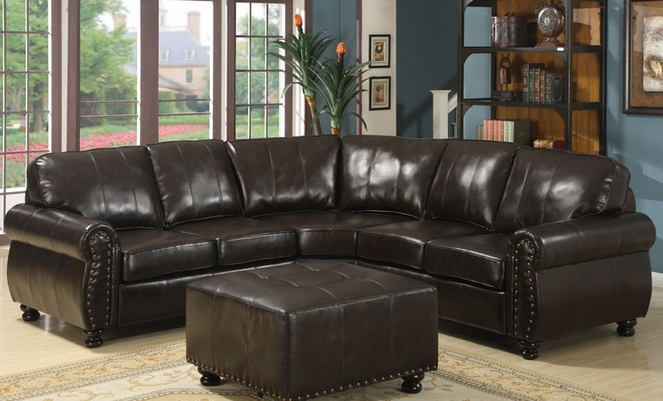 Baxton Studio 2 Piece Leather Sofa Set In Black Or Brown Or Sectional Sofa In Brown Up To 36 Off Sectional Sofa Affordable Modern Furniture Sofa Set