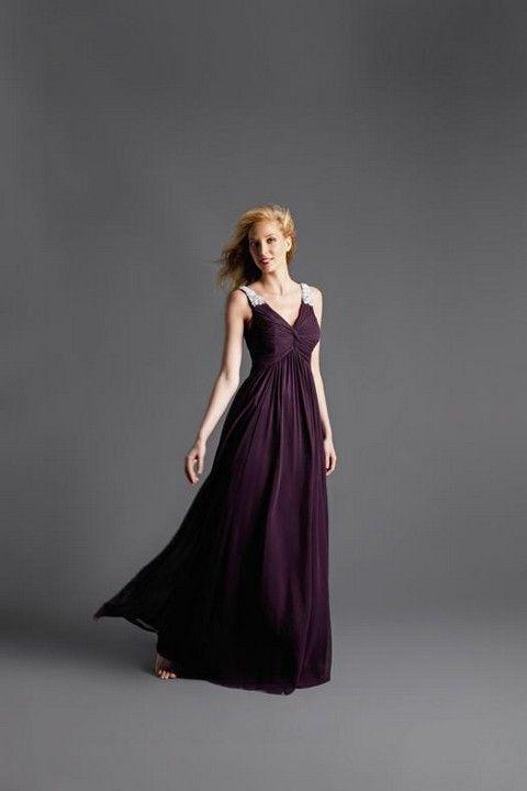 3e0558094bb2 Fialové padavé spoločenské šaty na štrasové ramienka S50B - Svadobný salón  Valery