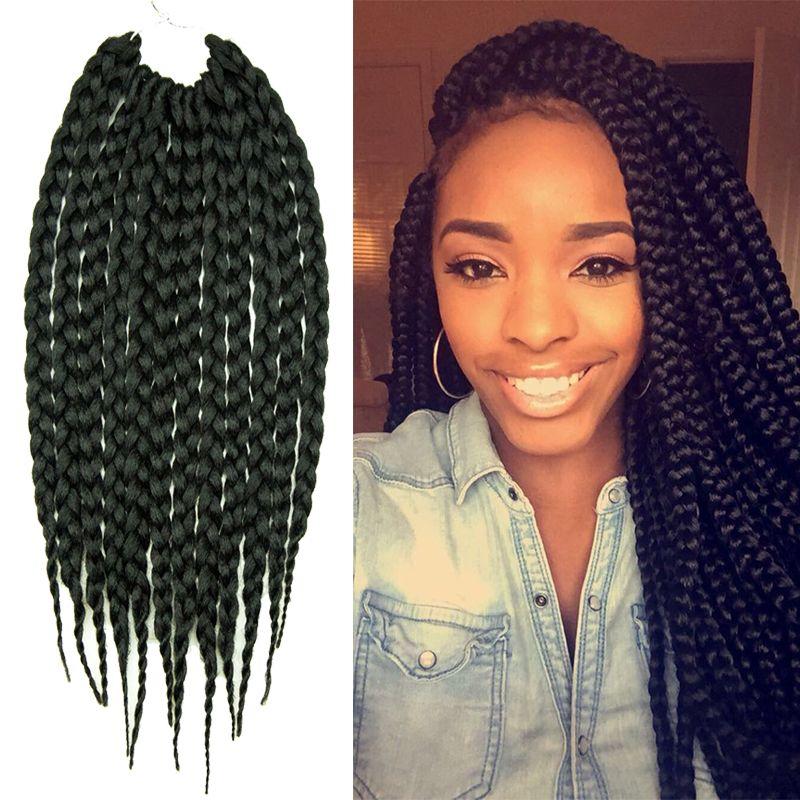 Box Braids Hair Crochet 14inch Crochet Hair Extensions Synthetic