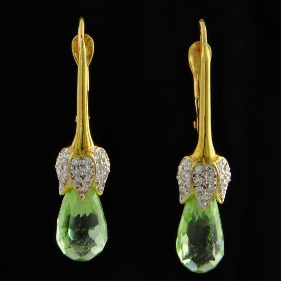 Chalson Peridot Earrings