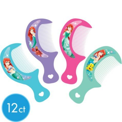 Little Mermaid Mini Combs 12ct - Party City Canada | Little Mermaid