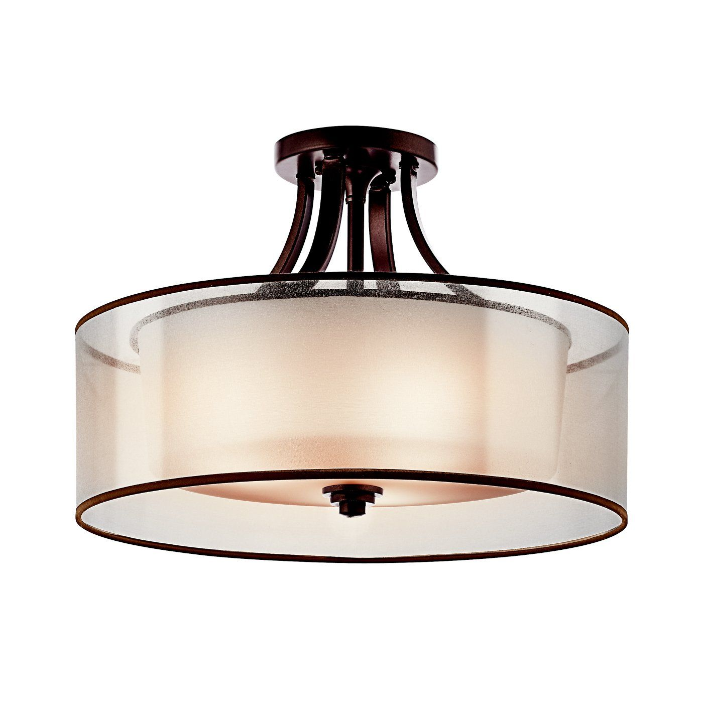 Kichler Lighting 42387 3 Light Lacey Large Semi Flush Ceiling