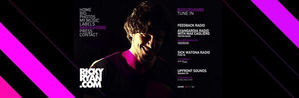 Ricky Ryan - Website by Visualbox , via Behance