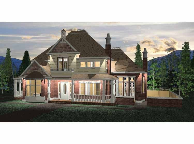 Eplans Queen Anne House Plan - Six Bedroom Queen Anne - 4180 Square ...