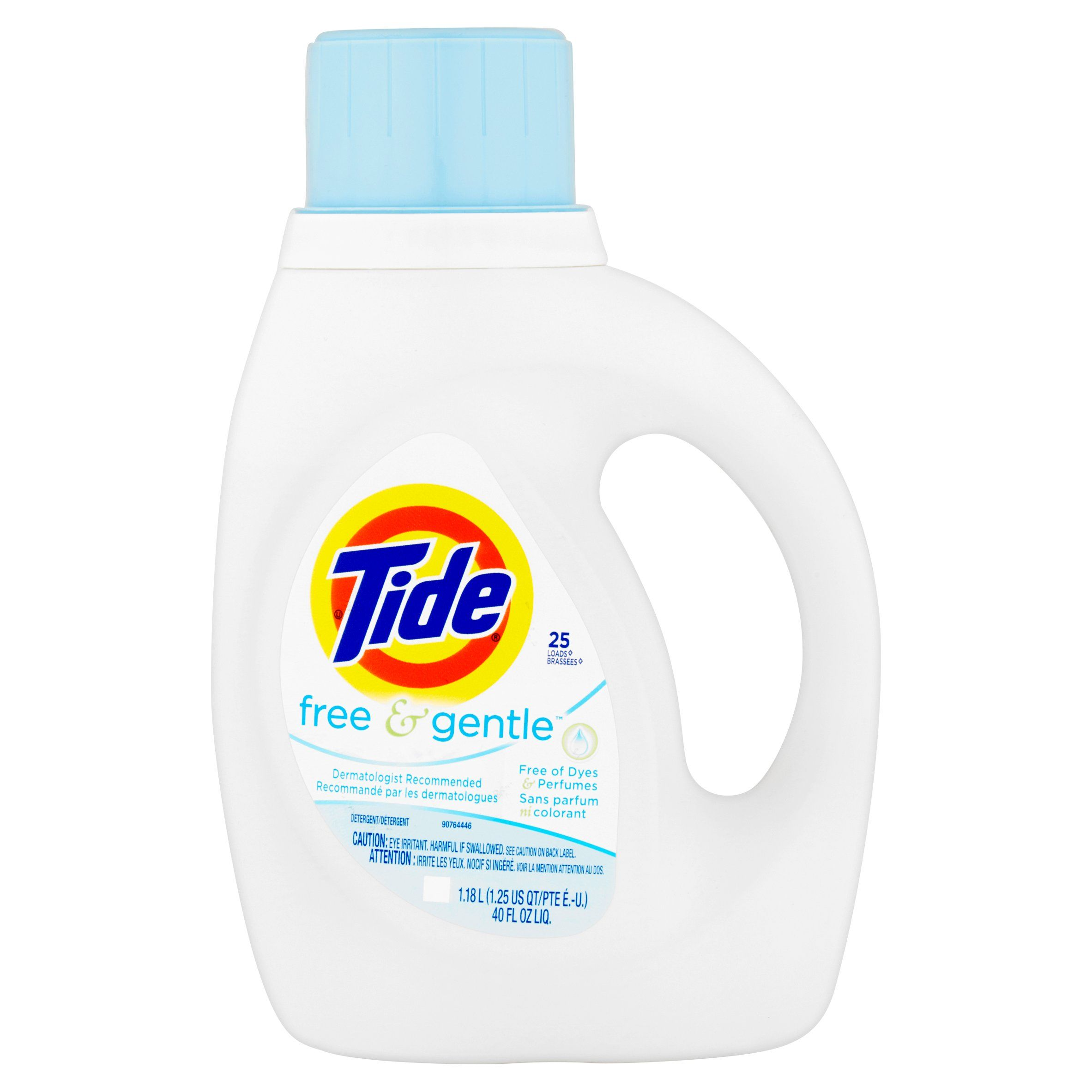 Free Tide Free And Gentle Liquid Laundry Detergent 40 Fl Oz