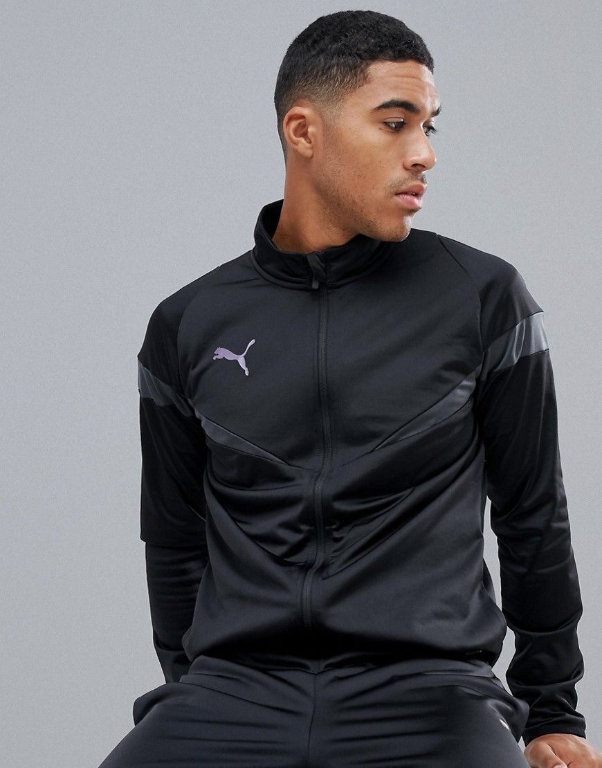 da2de86791c2 PUMA SOCCER POLY TRACKSUIT IN BLACK - BLACK.  puma  cloth