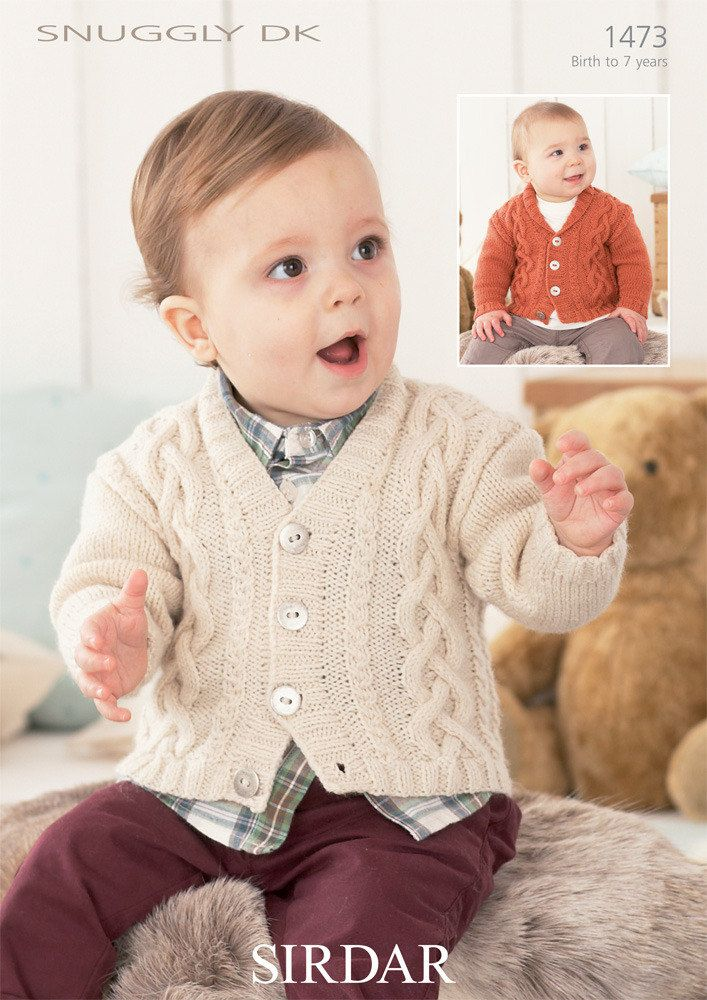 Knitting Pattern Baby Guernsey Style Jumper /& Hoodie Mitts 14-22 in Chest D.K.