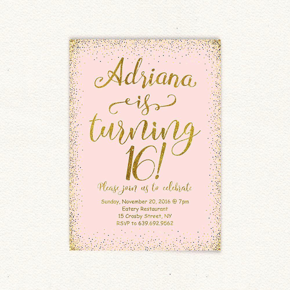 16th birthday invitation templates free