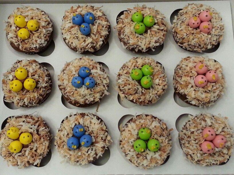 Birds cupcakes food breakfast cake
