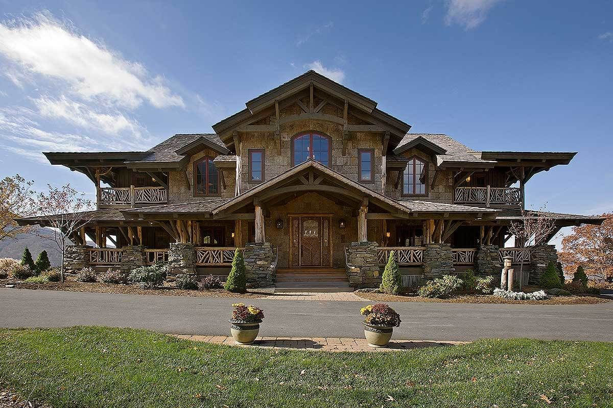 Plan 18817ck Wood And Stone Mountain Beauty In 2021 Architectural Design House Plans Architecture Design House Plans