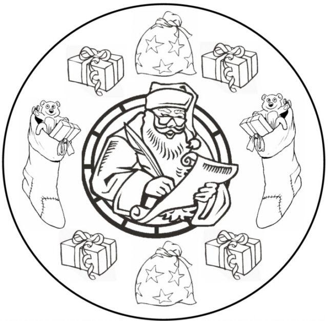 Ausmalbilder Weihnachten Mandala Fur Kinder Mandala Ausmalbilder