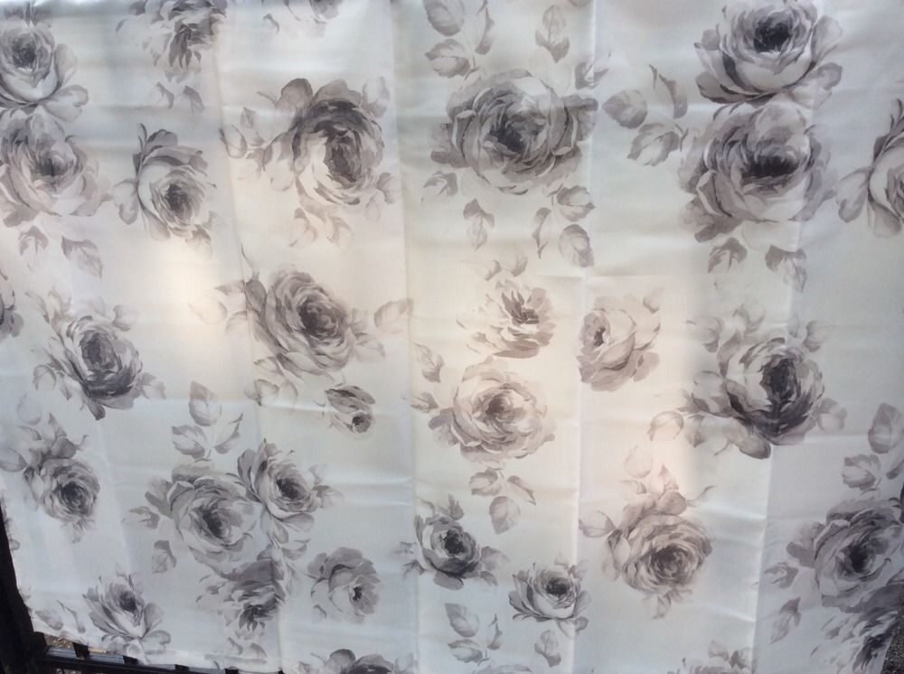 Ikea Aggersund Shower Curtain Grey Floral Rose New Matches